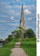 St Albans Church in Copnehagen, Denmark