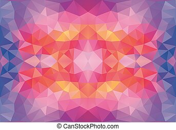 low poly seamless vector pattern