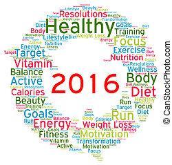 Resolutions 2016 health word cloud