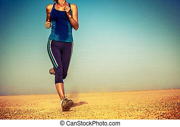 Runner in the desert