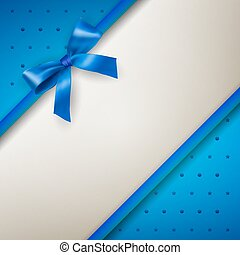 background with bow blue