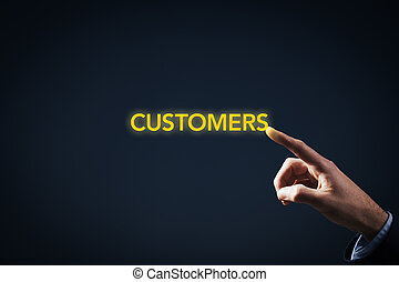 Contact with customers - Be in touch have contact with...