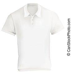 White Polo Shirt Design Template