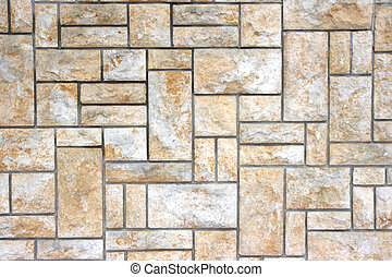 Sandstone wall - View of sandstone, sand-stone wall