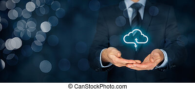 Cloud computing service concept - connect to cloud....
