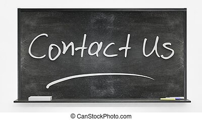 Contact us written on blackboard