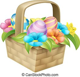 Easter Eggs Basket