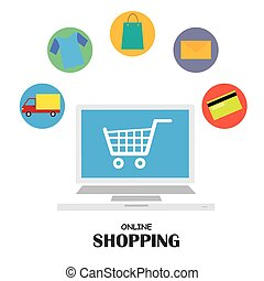 vector business online shopping