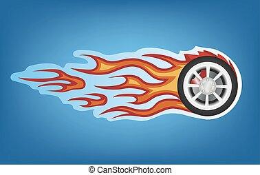 fire car sign