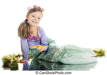 Little Mermaid Beauty - A pretty little girl in her mermaid...