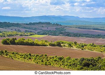 Plowed Fields of Bulgaria