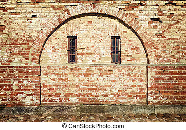 Immured Arch of Fortress With Two Windows