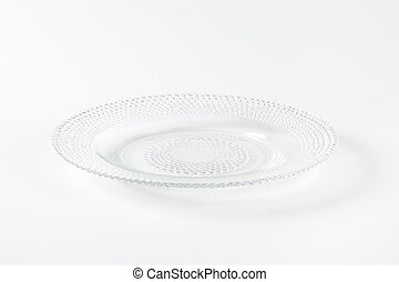 Decorative glass dessert plate - Glass dessert plate with...