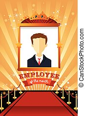 Employee of the Month Poster Frame - A vector illustration...