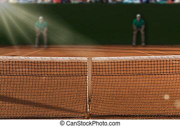 Tennis Court. - Tenis court Stadium.