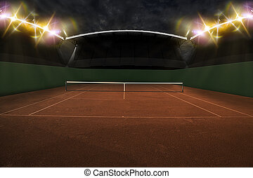 Tennis Court. - Tennis Court Stadium.
