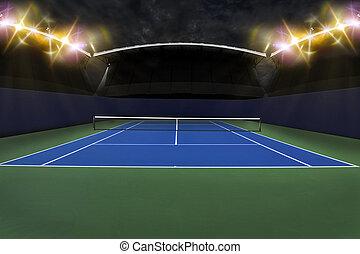 Tennis Court. - Tennis Court Stadium.