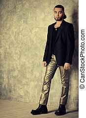 male style - Fashion shot of a stylish handsome man....