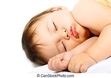 Adorable sleeping baby.
