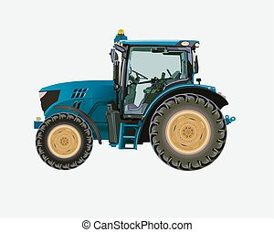 Agricultural tractor - Vector illustration of a tractor for...