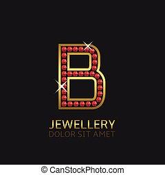 Golden Letter B