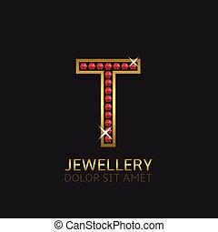Golden Letter T