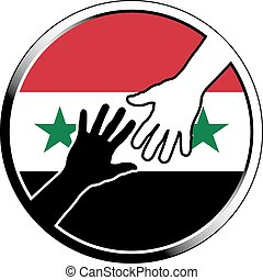 help to syriaeps - help to syria vector illustration