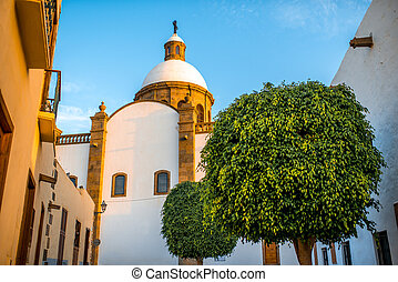 Aguimes town on Canary island - Church in Aguimes town in...
