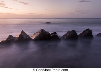 Jaws - Shooting rock formations at Hallet Cove, South...