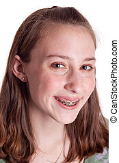 Teenager With Braces