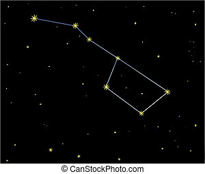 Big dipper - illustration of strar sky with big dipper