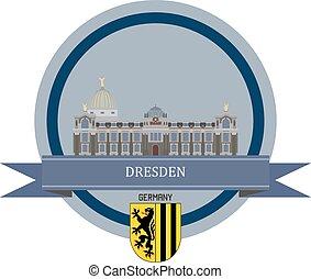 Dresden ribbon banner