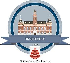 Helsingborg ribbon banner