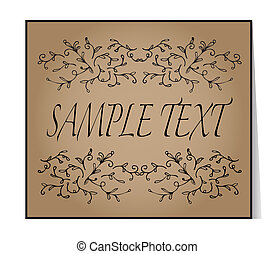 Elegant text frame Floral vintage hand drawn vignettes...