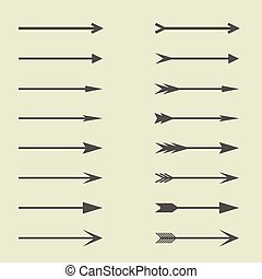 Arrow sign set Direction symbols, Vector illustration