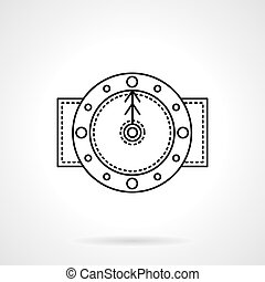 Time black flat line vector icon - Classic wall circular...