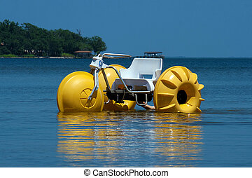 Water Trike - A water trike in a bay in Florida.