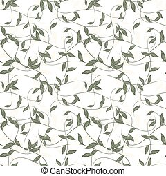 Seamless background of leaves