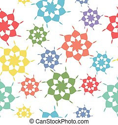 Seamless pattern, abstract shapes