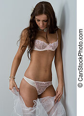 beautiful woman in lingerie - Picture of beautiful woman in...