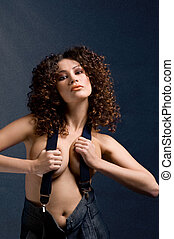 fashionable model - Picture of fashionable model with...