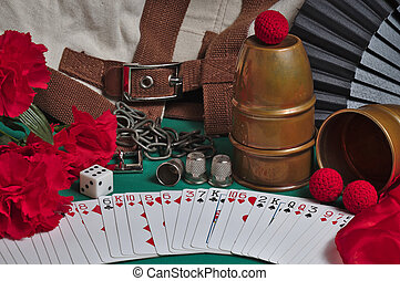 Magic Tricks Collection - Still life photograph showing...
