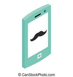 Hipster phone 3d icon