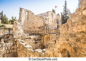 Remains of Bethesda Pool, Jerusalem - Remains of Bethesda...