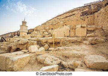 Herodyon, nacional, parque, en, palestina,