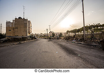 Suburbs of Hebron after riots, Palestinian Autonomy, Israel