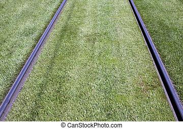Tramline  - urban tramway rails