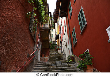 Varenna town italy como lake general architecture
