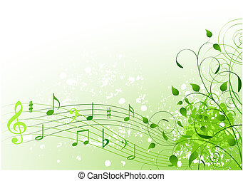 Spring song - Abstract spring song background