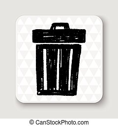 Doodle Trash can